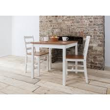 annika bistro set table with 2 chairs natural white