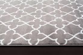 quality persian moroccan trellis design area rug gray white