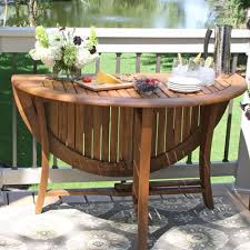 round folding table patio dining table