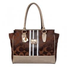 Coach Candace In Signature Medium Coffee Satchels BFM