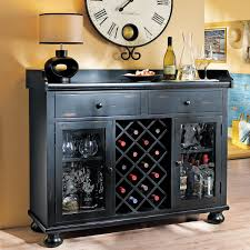 Wine Cabinet Black Howard Miller Cabernet Hills Wine Console Wine Enthusiast