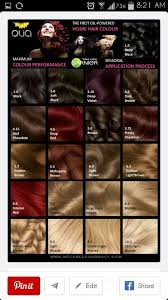 Olia Colour Chart Garnier Olia Color Chart In 2019 Garnier Hair Color Olia
