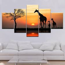 Canvas Wall Art Pictures Framework Home Decor <b>5 Pieces</b> Sunrise ...