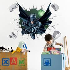 most cur batman wall art regarding 3d batman wall sticker kids nursery room cartoon decor removable