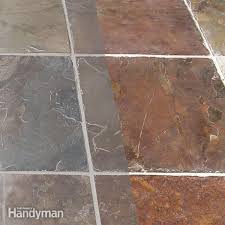 use a special grout release before grouting porous stone tile