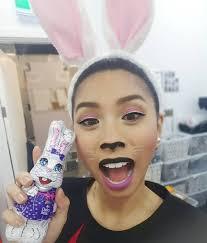 black bunny makeup