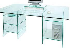 greenapple glass computer desk with shelves