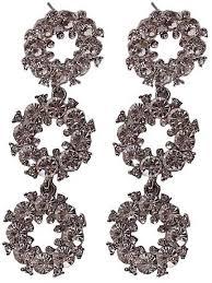 fashion trendy bridal earring fashion rhinestone chandelier drop earrings silver