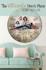 photo clock wall clock personalized