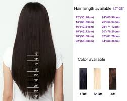 Weave Length Chart And Height Smooth Brazilian Virgin Hair Straight Bundles Including