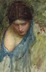 waterhouse painting nymphs finding the head of orpheus by john william waterhouse
