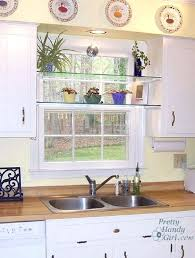 over the sink kitchen window treatments glass shelves in front of kitchen window kitchen sink window over the sink