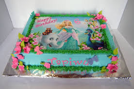 Barbie Themed Sheet Cake With Edible Print Willi Probst Bakery