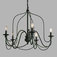 living winsome black modern chandelier