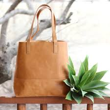 never full leather tote
