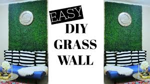 easy diy faux grass wall glam up any room