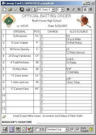 baseball lineup creator line up card baseball new advanced custom lineup card