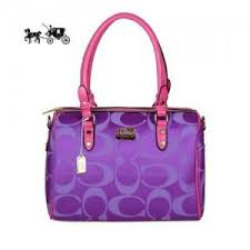 Quick View · Coach Madison Logo Medium Purple Luggage Bags Outlet Sale VIP  Shop ...