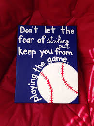 Baseball Quotes Diy Baseball Canvas For My Boyfriend My