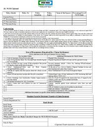 motor insurance claim form for the iffco tokio insurance