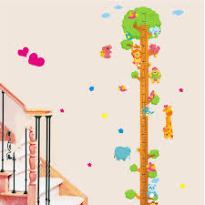 Us 3 99 Eva2king Pvc Cartoon Children Height Measure Growth Chart Stickers Animal Pegatinas Kids Nursery Bedroom Decor Sticker In Stickers From Toys
