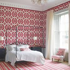 Red Wallpaper For Bedroom Bedroom Colour Schemes Ideal Home