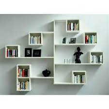 wall mounted book shelves wooden