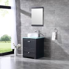 details about single 24 bathroom cabinet vanity ceramic vessel sink bowl w tempered glass top