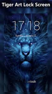 Screen Picture Tiger Art Lock Screen Wallpapers Cool Beast King Lion Hd