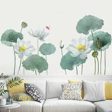 large lotus flowers fl wall sticker