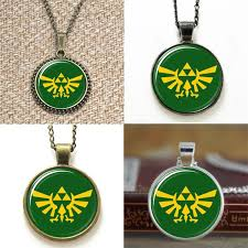 whole legend of zelda triforce logo green and yellow necklace keyring bookmark cufflink earring bracelet pendant for necklace horse pendant necklace