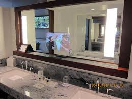 TV in bathroom mirror Picture of Fairmont Pacific Rim Vancouver