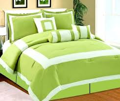 3 pieces cotton lime green duvet cover set with active printing dot super king green