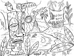 Small Picture Tiki Mask Coloring Pages Coloring Home