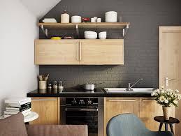 Kitchen Designs: Black Kitchen Featuring Blocks Two Different Types Of Wood  - Dark Kitchens