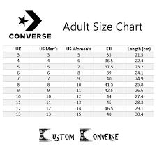 Converse Shoe Chart Converse Shoe Size Chart