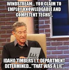 Windstream... you claim to employ knowledgable and competent techs ... via Relatably.com