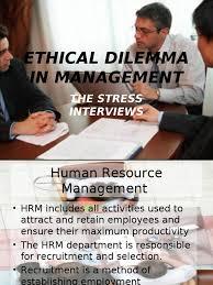 stress interviews principles of management ppt