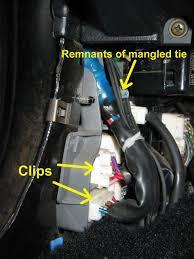mr2 door wiring fix how to kick panel harness clips
