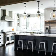 glass globe pendant light charcoal gray kitchen island with backless industrial metal counter stools nz