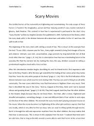 scary narrative essay sample of a descriptive essay sample of a  scary movies analysis fear
