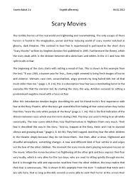 scary narrative essay sample of a descriptive essay sample of a  scary movies analysis fear