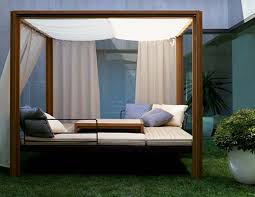diy outdoor daybed frame with canopy cushion easy ideas homemade