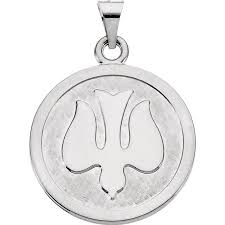 cweb sterling silver 23mm holy spirit dove medal