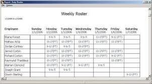 Download Annual Duty Roster Template Excel