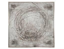 grey circles framed canvas 61 w x