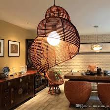 bamboo pendant light. Bamboo Light Fixture Modern Snail Pendant Lights Southeast Rattan Escargots Lamps Hotel Restaurant .