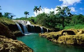 tropical landscape desktop backgrounds. Tropical Landscape Widescreen Wds Sky Tree Green Waterfall River Flag This Wallpaper With Desktop Backgrounds Nature Wallpapers Nexus