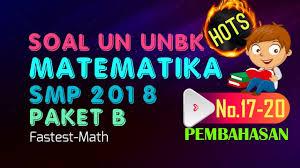 Hasil dari (2x 2) (x + 5) adalah. Pembahasan Soal Hots Un Matematika Smp 2018 Paket B No 17 20 Youtube