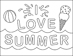 Small Picture Easy to Paint Summer Coloring Pages For Kids Color Zini